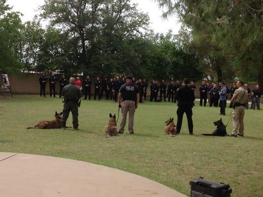K-9 dog memorial service