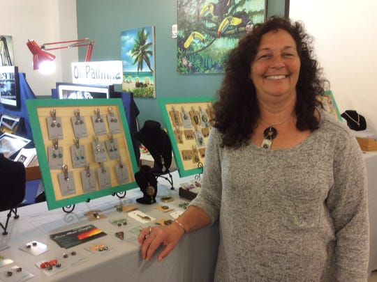 Laura Ellison, of Princess Anne, Maryland, is a jewelry artist, who will show her unique creations at the 11th annual Artisans Fair Saturday, May 26, at Lord Baltimore Elementary School in Ocean View.