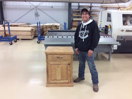 Micah Lehman built a custom nightstand.