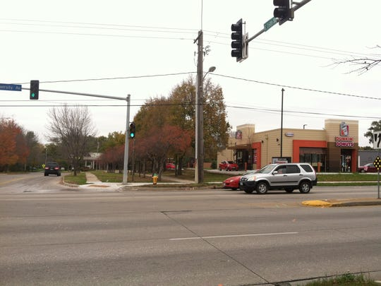 Approximate area where a man was killed in a hit-and-run collision Saturday morning.