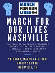 2018 March for Our Lives Nashville poster.