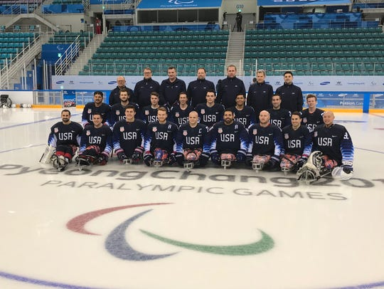 U.S. Paralympic sled hockey team