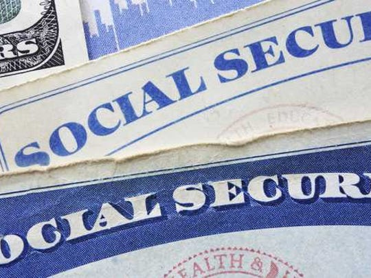A social security card and some cash.