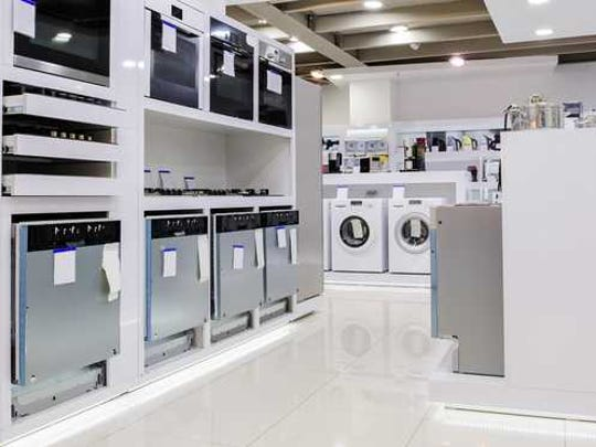 Rows of appliances.