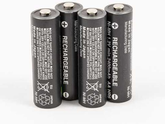 A study found 50 charge cycles are needed to make up for most areas of greater potential impact from nickel metal hydride rechargeable batteries in comparison to alkaline batteries.