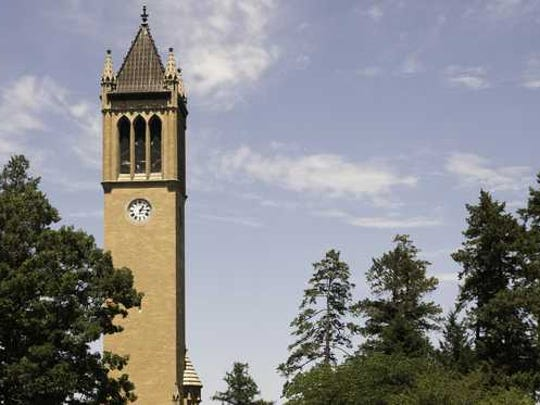 Bell tower at Iowa State University.