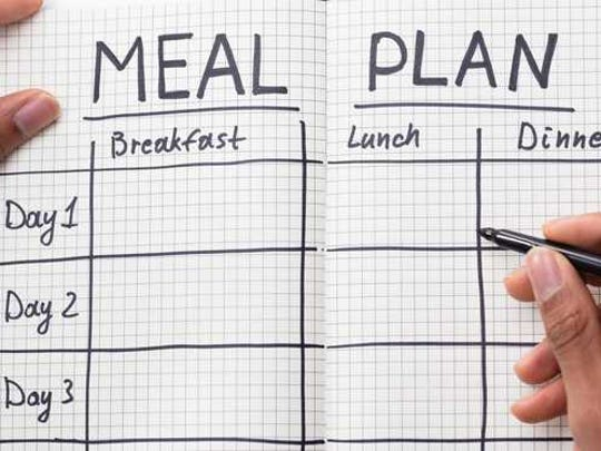 Meal planning notebook.