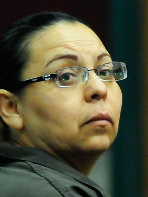 Maria Ceniceros appears in Third Judicial District Court on Thursday.