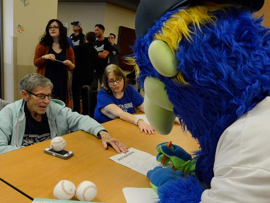 Rehab patients get visit from Revs players