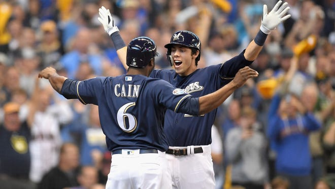 Christian Yelich and Lorenzo Cain helped lead the Milwaukee Brewers to within a game of the World Series in 2018.