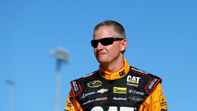 NASCAR Sprint Cup Series driver Jeff Burton during the Ford EcoBoost 400 at Homestead-Miami Speedway.