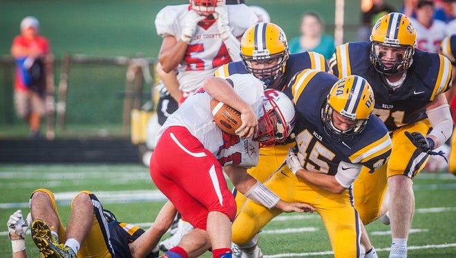 Delta defeats Jay County at Delta High School Friday evening. Levi Hummel Kaleb Slaven, Kalib White
