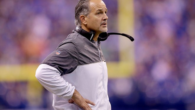 """Here's what Colts owner Jim Irsay said about coach Chuck Pagano going forward: """"He is our coach for 2017. The new general manager will come in, evaluate our whole football program and we will see where we are at. Again, I hope Chuck can be our coach for many years to come. He is our coach this year."""""""