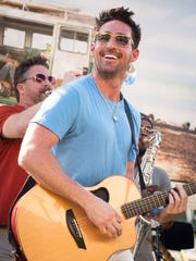 Jake Owen performs during a listening party for his