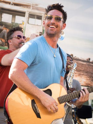 Jake Owen performs during a listening party for his album at Blue Moon on Monday, July 18, 2016, in Nashville.