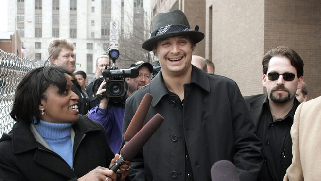 Kid Rock is all smiles in February 2005 when he is released from Nashville's Criminal Justice Center after, police said, he punched a strip club DJ.