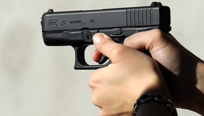 A Glock 27 .40 caliber handgun is shown in this file photo.