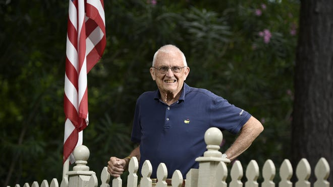 Fred Gehle is the program coordinator the Veterans History Project which records interviews with WWII veterans around the area. He is seen at his home in Augusta, Ga., Tuesday afternoon June 23, 2020 .