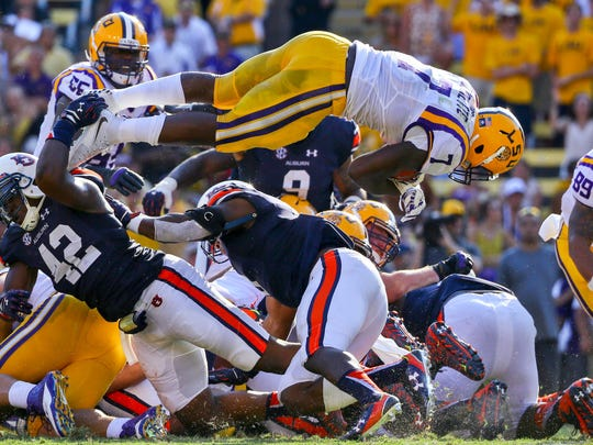 Fournette went around, through and over the Auburn
