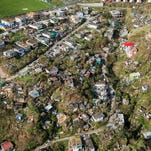 Now-and-then satellite photos show Maria's ravaging of Dominica