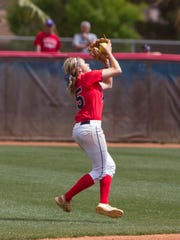 Dixie State shortstop Josey Hartman broke a program