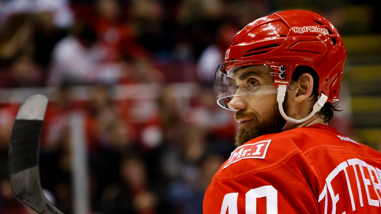 Red Wings' Henrik Zetterberg, Justin Abdelkader and Jeff Blashill 'frustrated' after a fifth straight defeat, this time 2-0 to the Blues on Wednesday, Feb. 15, 2017. Video by Helene St. James, DFP.