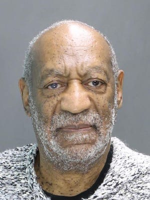 "This was Cosby's original booking photo, taken Dec. 30, 2015, when he was first charged. He went on trial in the summer of 2017. After the jury said it was ""hopelessly deadlocked,"" Judge Steven O'Neill declared a mistrial. He was tried again this April and convicted on all three counts. Click forward to see other celebrity mugshots."