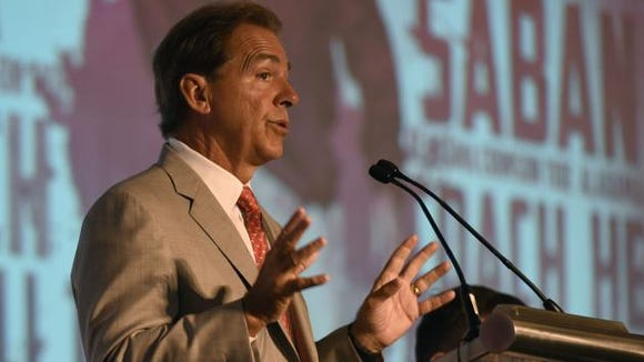 When asked if he'd consider playing UAB in the future, Nick Saban says its not his decision on who Alabama plays.