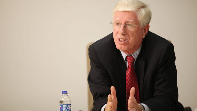 Tom Miller, Iowa Attorney General meets with Des Moines Register editors on Monday, Oct. 7, 2013.