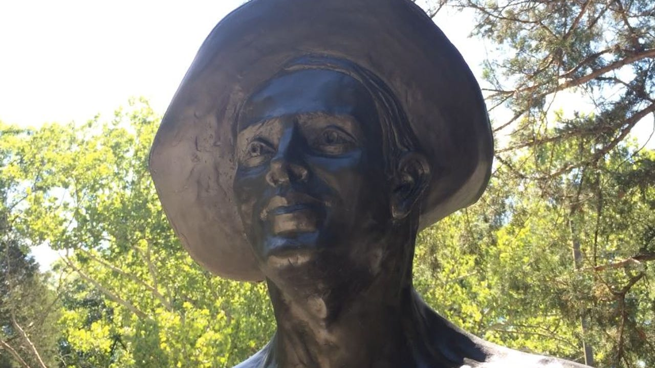 """A Civilian Conservation Corps statue, nicknamed """"Iron Mike"""" was recently installed at Montgomery Bell State Park. The statue honors the young men of the CCC who helped create the park in 30s and 40s."""