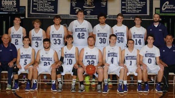 Last season's Mitchell boys basketball team.