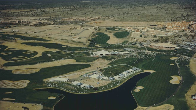 An aerial view of the TPC Scottsdale in 1989, the third year the tournament was held at that venue.