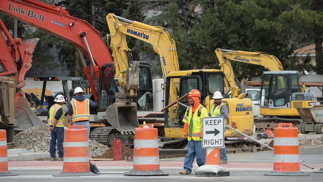 Construction continues at Prospect Road and College Avenue.