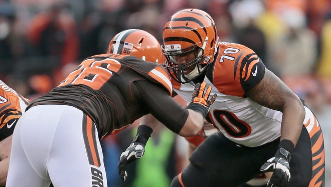 Cedric Ogbuehi is the early front runner to start at right tackle for the Cincinnati Bengals in 2016.