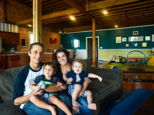 Ryan and Karime Hord, and their sons Jase and Van, reside in a 3,500-square-foot loft in downtown Marion. The Hord's dwelling is one of nine downtown lofts on the Lofty Spaces & Unique Dining Places tour set for Friday.