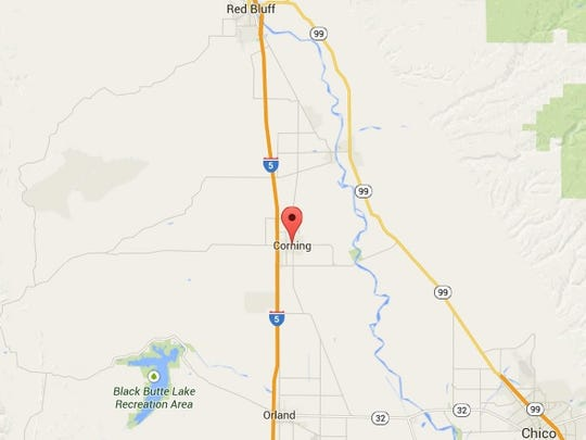 Corning is located off Interstate 5 about 110 miles north of Sacramento in rural northern California.
