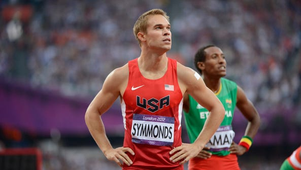 In a file photo from 2012, Nick Symmonds (USA) reacts