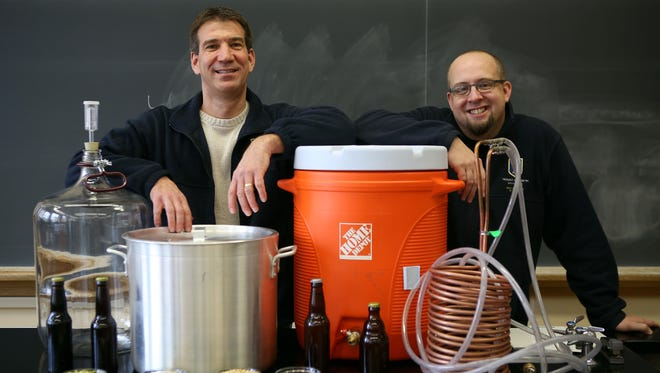 Tim Lawson, professor and chair of the department of psychology, and Andy Rasmussen, assistant professor in the department of biology, are creating a class about beer and brewing that will be offered at Mt. Saint Joseph this summer.