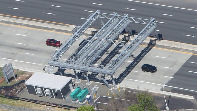The new cashless toll plaza on the Nyack side of the Tappan Zee Bridge