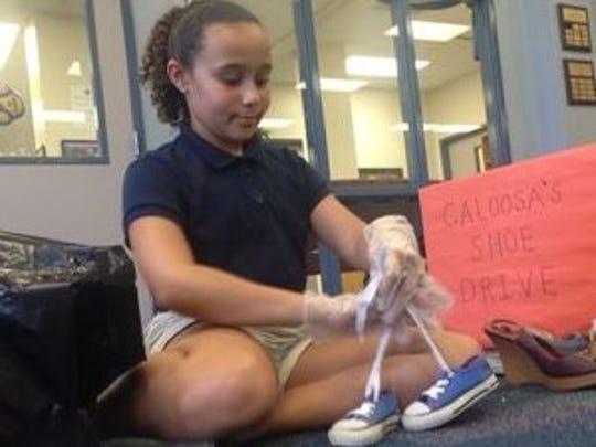 Jaylen Morrero, 11, a fifth-grader at Caloosa Elementary