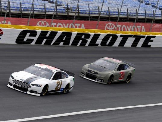 AP NASCAR Charlotte Testing Auto Racing