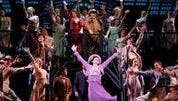 """The Company of """"42nd Street"""" in """"Lullaby of Broadway."""""""
