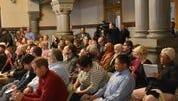 Cincinnati City Hall chambers during sanctuary city vote.
