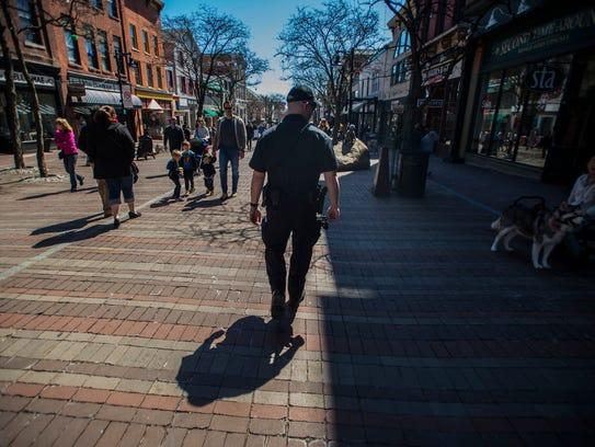 Burlington police regularly patrol Church Street on