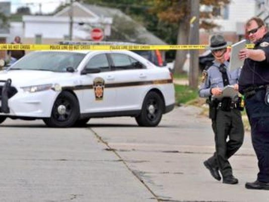 Pennsylvania State Police responded to the scene of a shooting Saturday afternoon on Kelly Drive and Community Place.