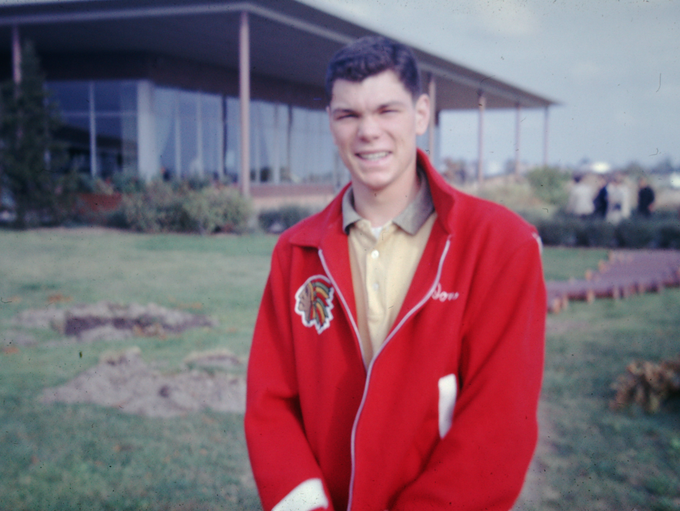 Don in his Penfield High School jacket.