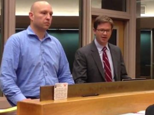 Blake Seylhouwer appears in court during an earlier court appearance.
