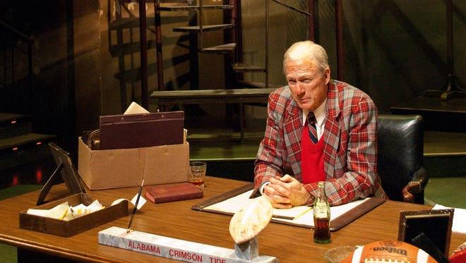 "Rodney Clark returns to his role as University of Alabama head football coach Paul ""Bear"" Bryant in Alabama Shakespeare Festival's production of ""Bear Country,"" March 9-25, 2018, in Montgomery, Ala."