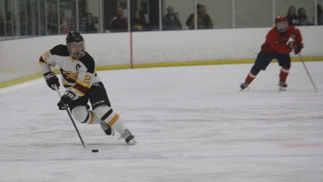Michael Mania (25) scored four goals in Central Regional's 4-3 win over Manalapan on Friday.