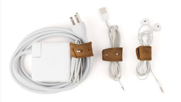The Cord Wrap Set neatly and stylishly keeps cords